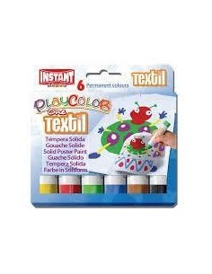 TEMPERA PLAY COLOR ONE TEXTIL 6COL