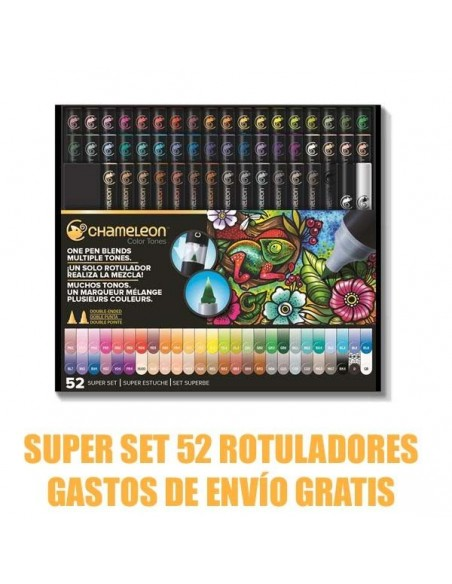 SUPER SET 52 ROTULADORES CHAMELEON